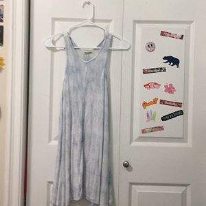 Billabong Blue and White Tie Dye Dress